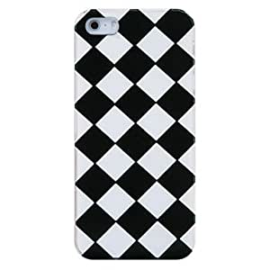 HOR Volver Caja blanco y negro Rejillas de plástico para el iPhone 5/5S