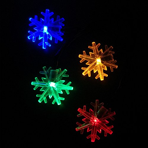 Blue, China : YIYANG Solar Power Snowflake Garden String Lights Christmas Wedding Party Holiday Decoration Lamp Copos Luces Nieve Jardin -