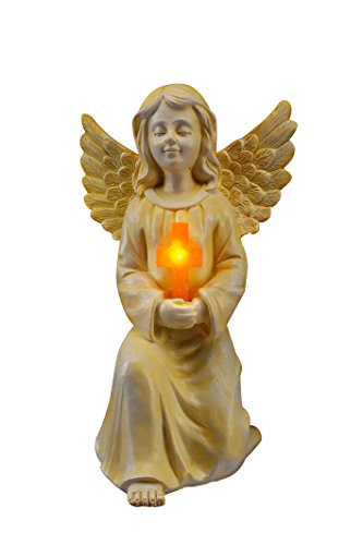 bulk buys HX431 Solar Angel Statue with Cross