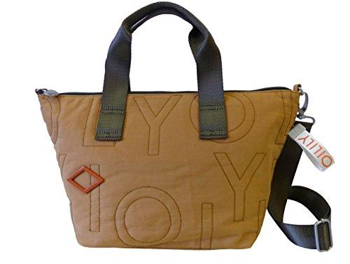 Oilily Spell Handbag MHZ dark yellow Damen Handtasche,Schultertasche Gelb (45x24x18 cm)