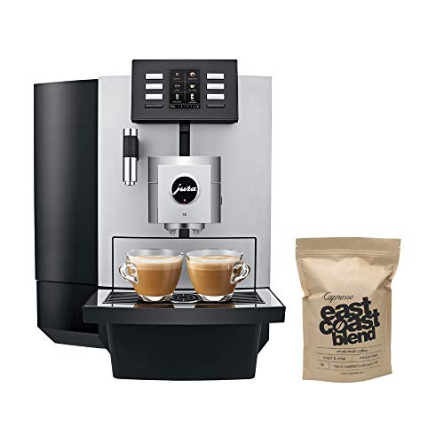 Jura X8 15177 Automatic Coffee Machine with PEP 64oz Capacity Programmable Includes 1 Pound Whole Bean Coffee Bundle