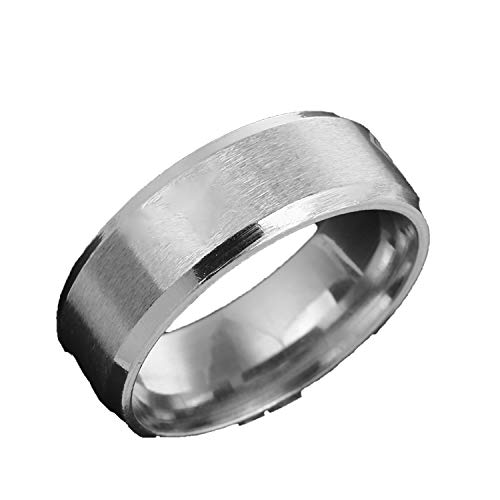 uanfuyicen Male Superman Hero Black 316 Stainless Steel Ring 8 Mm for Sport Dad Men Boy Gift (Best Konov Jewelry Friends Necklace For Boys)