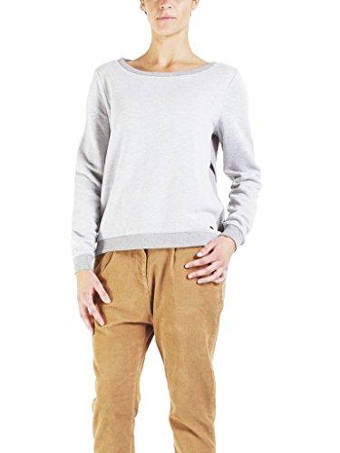 Jeans Jeans Jeans Felpa Bicolore Asimmetrico 892 Normale Grigio Manica Stile 869 vestibilità Carrera Lunga per Donna gdFgqA