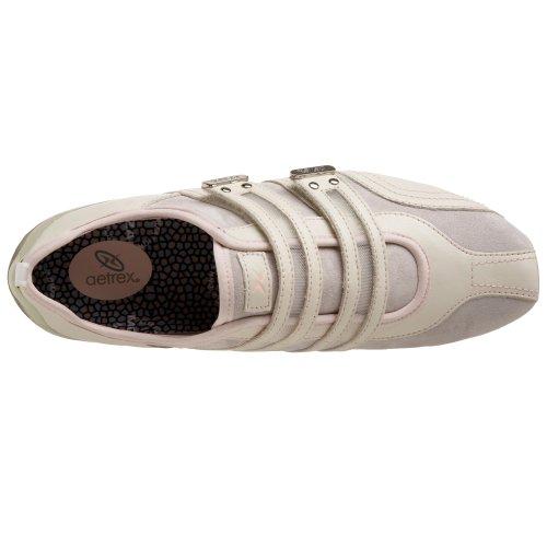 Aetrex Womens Abbey Double Sangle Sneaker Colombe