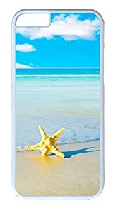 Case Cover For HTC One M8 CaseS Plastic Hard Case Cover for Apple Screen) White Border Starfish Beach