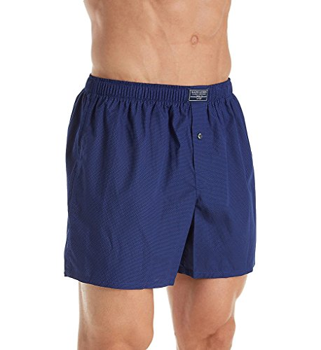 Polo Ralph Lauren Classic 100% Cotton 40's Woven Boxer (L108HR) L/Soho Blue/Polka (Polka Dots Boxers)