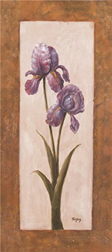 The high quality polyster Canvas of oil painting 'Purple Iris' ,size: 30×68 inch / 76×172 cm ,this High Resolution Art Decorative Prints on Canvas is …