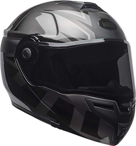 Bell SRT Modular Street Helmet(Matte/Gloss Predator Blackout (incl Dark Smoke Shield), Large) -