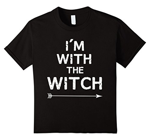 Kids Halloween Couples Costume - I'm With The Witch 8 (Boy Girl Couple Costumes)