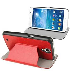 Ultra Slim Flip Leather Cover with Holder for Samsung Galaxy Mega 6.2 / i9200 (Red)