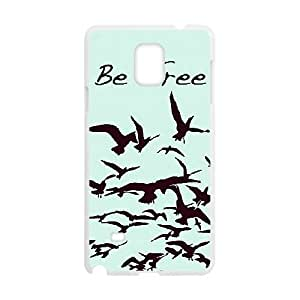 Nice Sky Birds Be Free TPU Covers Cases Accessories for Samsung Galaxy Note4