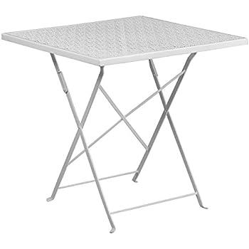 Amazon Com Flash Furniture 28 Square White Indoor