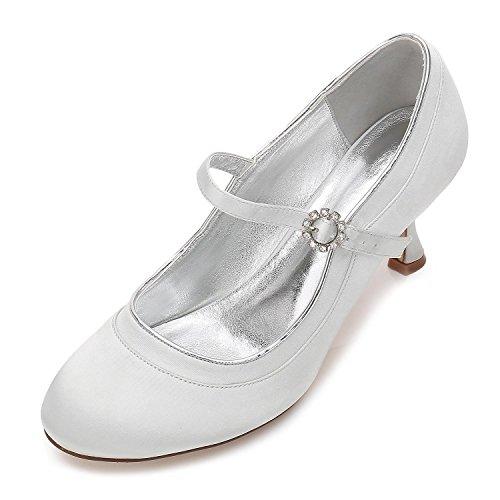 44 Bomba Jl Pie Cerrados La Shoes Silver Boda Tacn Satn Alto Las Zapatos Dedo De Mujeres Elegant 17061 Nupcial High Del gqHwYY