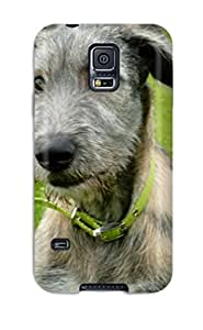 Hot New Irish Wolfhound Puppies Skin Case Cover Shatterproof Case For Galaxy S5 8735033K98815711