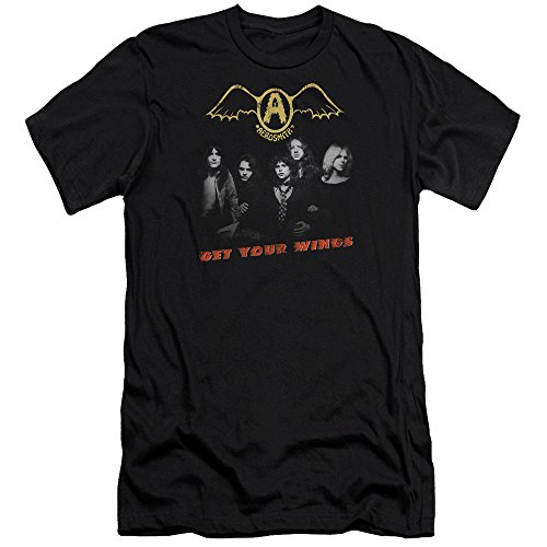Aerosmith Get shirt Hommes Slim Black Fit T Wings Your 6wv5rnwq