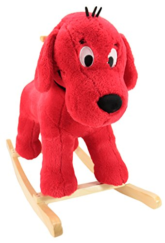 Animal AdventureReal Wood Ride-On Plush RockerCliffordPerfect for Ages 3+