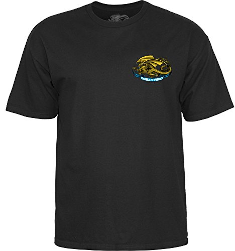 (Powell-Peralta Oval Dragon Black Large T-Shirt)