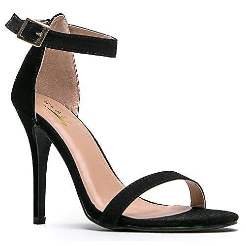 Black Heels with Sparkles: Amazon.com
