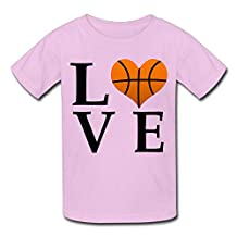 SLIAT Youth's I Love Basketball Best Gifts For Basketball Lover Tees