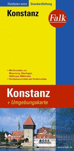Falk Stadtplan Extra Standardfaltung Konstanz