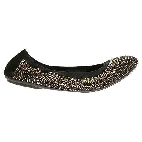 Hush Puppies Womens Chaste Ballet Flat Gold Stud ahhqNBMe