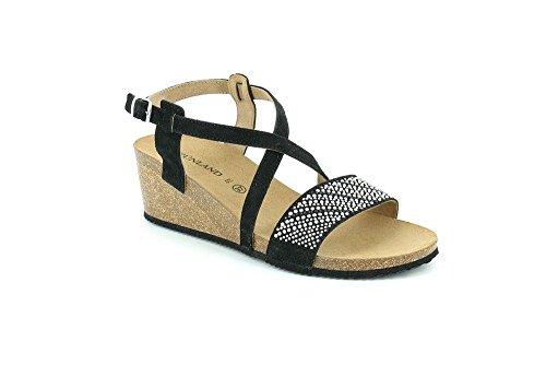 Nero Sandalo Gape SB0331 P Donna Grunland wpX1qxC