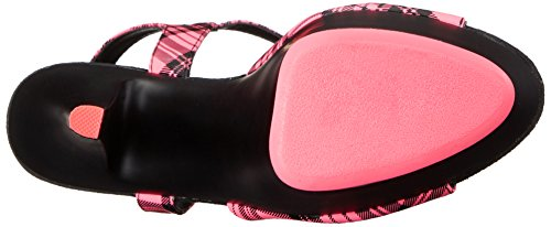 Pleaser Vrouwen Kiss209pl / Nhppu / B Platform Sandaal Neon H. Roze Geruite Faux Leer / Zwarte Matte