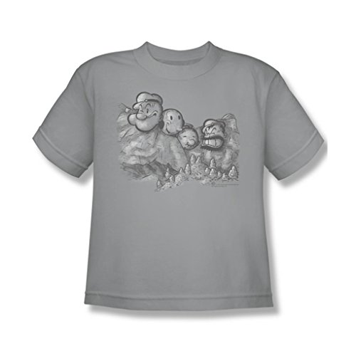 popeye-pop-rushmore-youth-t-shirt-in-silver-size-large-color-silver