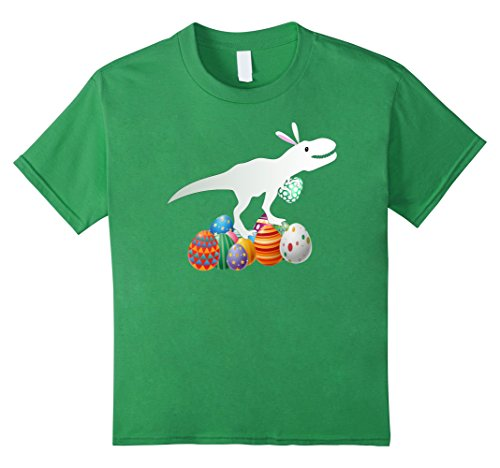Day Bunny Costume Green (Kids Easter Bunny Dinosaur Eggs Shirt |Funny Easter Day T Shirt 8)