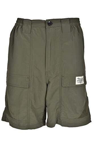 Bimini Bay Outfitters Men's Grand Cayman Nylon Short 31670 Olive (Bay Button)