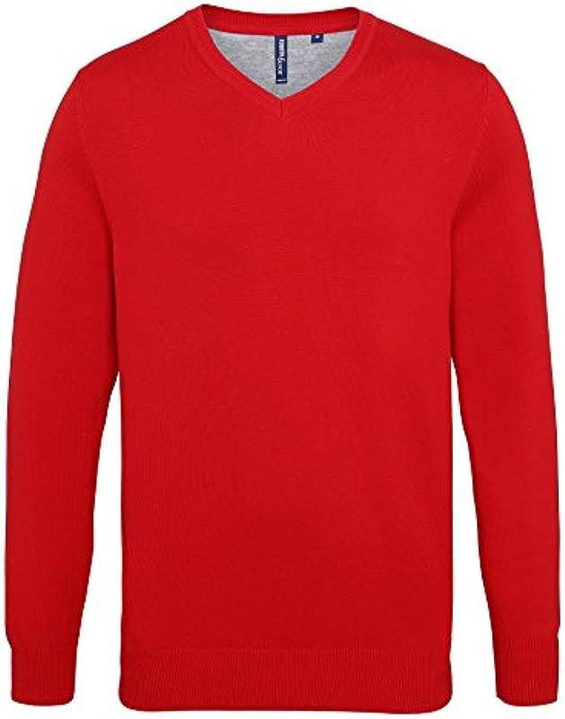 Asquith & Fox męska bluza z dekoltem w serek: Odzież