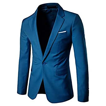 Howely Men's Gentleman One Button Big & Tall Wedding Business Blazer Business AS1 XS