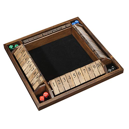 (WE Games 4-Player Shut the Box - Large Coffee Table Version - 14 inches)