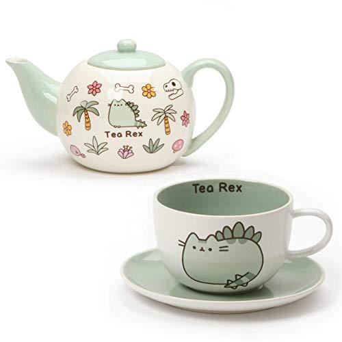 Enesco Pusheen Tea Rex Teapot and Teacup with Saucer Gift Set
