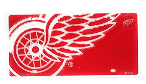 Detroit Red Wings MEGA Logo Design Premium Laser Cut Tag Acrylic Inlaid License Plate Hockey