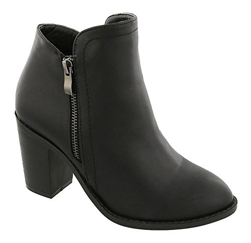 Top Moda Women's Ankle Booties, Black, 8 B(M) US