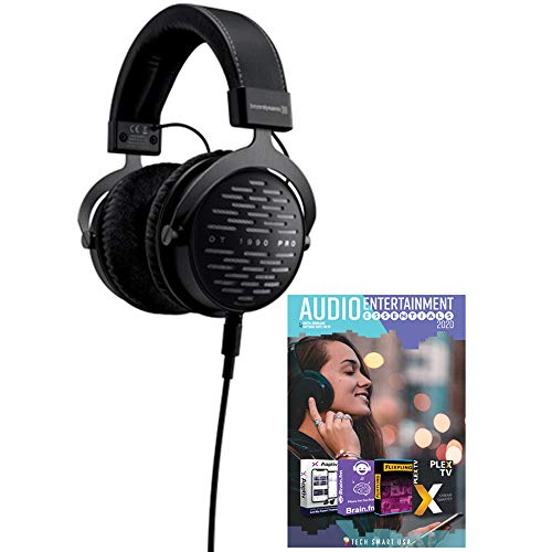 beyerdynamic 710490 DT 1990 PRO 250 Ohm Open Studio Headphones Bundle with Tech Smart USA Audio Entertainment Essentials Bundle 2020