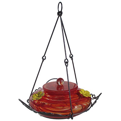 Nature's Way Bird Products GHF3 Garden Hummingbird Feeder, Red Swirl