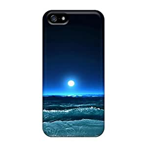 Ultra Slim Fit Hard JoyRoom Case Cover Specially Made For Iphone 5/5s- Night Over The Sea