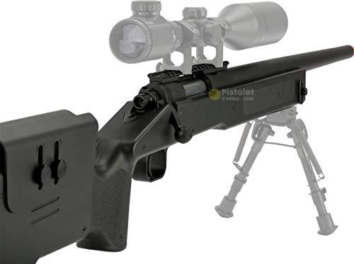 Pack complet Airsoft M62 Sniper Double Eagle/Sniper à Ressort/métal-ABS/Rechargement Manuel (0.5 Joule)-Livré avec… 4