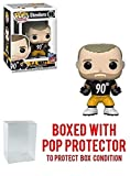 Funko Pop! NFL: T. J. Watt Pittsburgh Steelers # 98 Vinyl Figure (Bundled with Pop Protector)