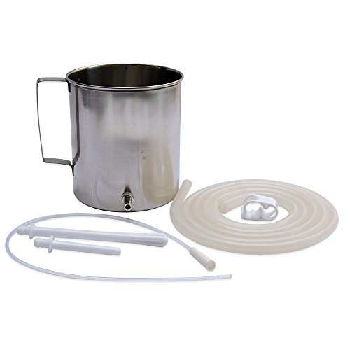 High Grade Stainless Steel Enema Kit (1.5 Quart) with Medical Grade...