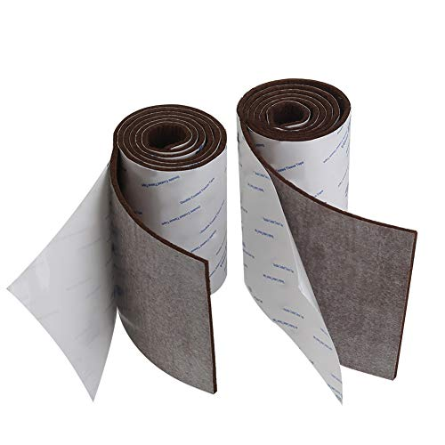 Shintop Felt Tape DIY Adhesive Heavy Duty Felt Strip Roll Cut into Any Shape to Protect Your Hardwood And Laminate Flooring (Brown) ()