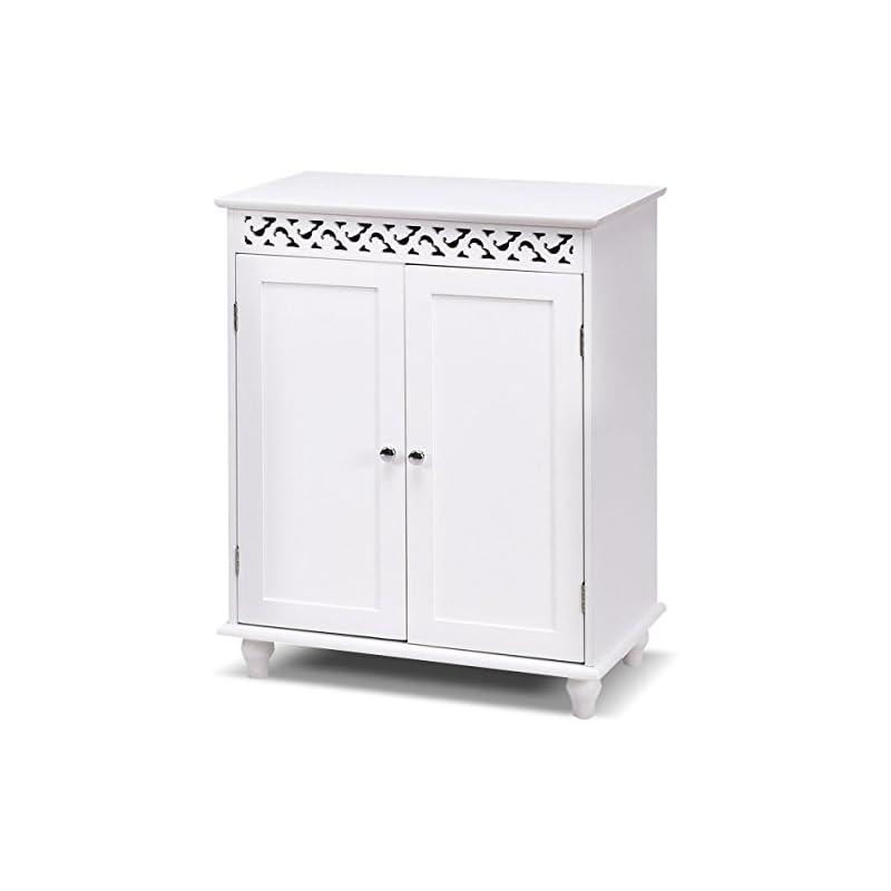 TANGKULA Floor Cabinet Bathroom Wooden S