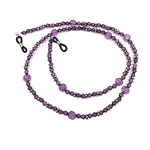 Purple Acrylic Beaded Eyeglass Chain Sunglasses Holder Necklace Eyewear Lanyard