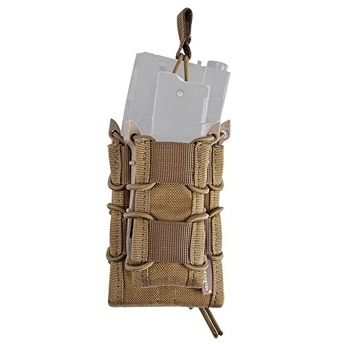 EMERSONGEAR Tactical Double M4 M16 Mag Pouch Molle Airsoft with Pistol Magazine Pouch CB