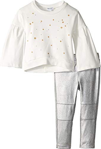 - Splendid Girls' Toddler Embroidered French Terry Set, Off Off White, 2T