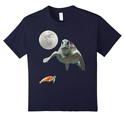 Kids Sea Turtle T Shirt Vintage 90s Themed Turtle Shirt 10 Navy (90s Themed Clothes)