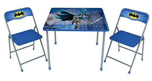 O'Kids Batman Children's Metal Table & Chair 3 Piece  Set ()