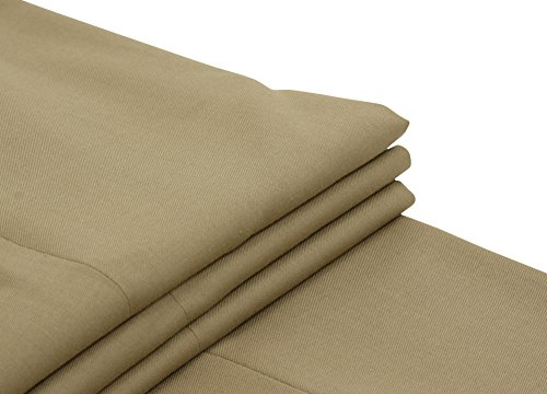 Joseph Abboud Mens Solid Taupe Flat Front Dress Pants - Size 32